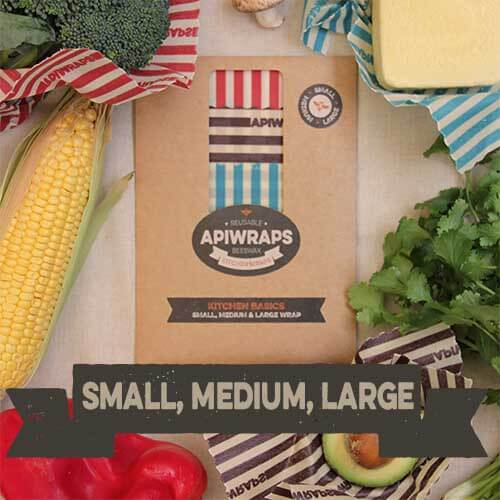 Wash and use again beeswax food wraps